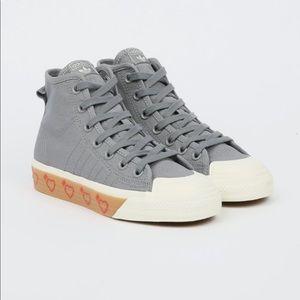Adidas Nizza HI HM gray Zip up high tops